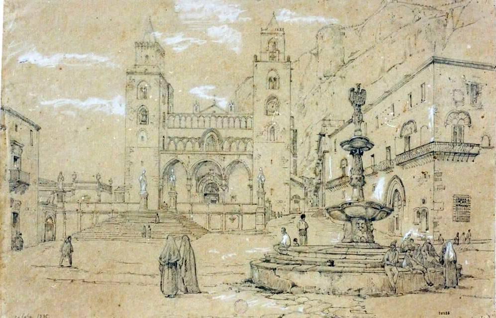 L'antica fontana di Piazza Duomo a Cefalù