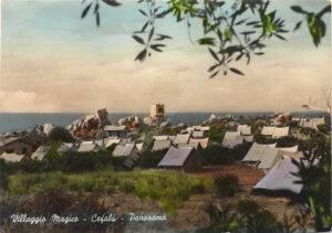Cefalù - Panorama della tendopoli al Villaggio Magico