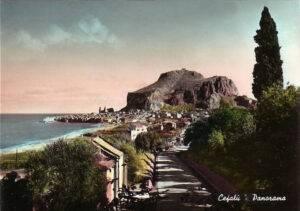 Cefalù - Panorama dallo stradale per Palermo